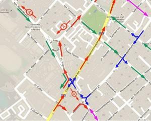 Симферопольский городской совет разработал схему одностороннего движения по центральным улицам Симферополя.
